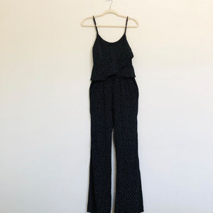 Knot Sisters Black Polkadot Sleeveless Jumpsuit